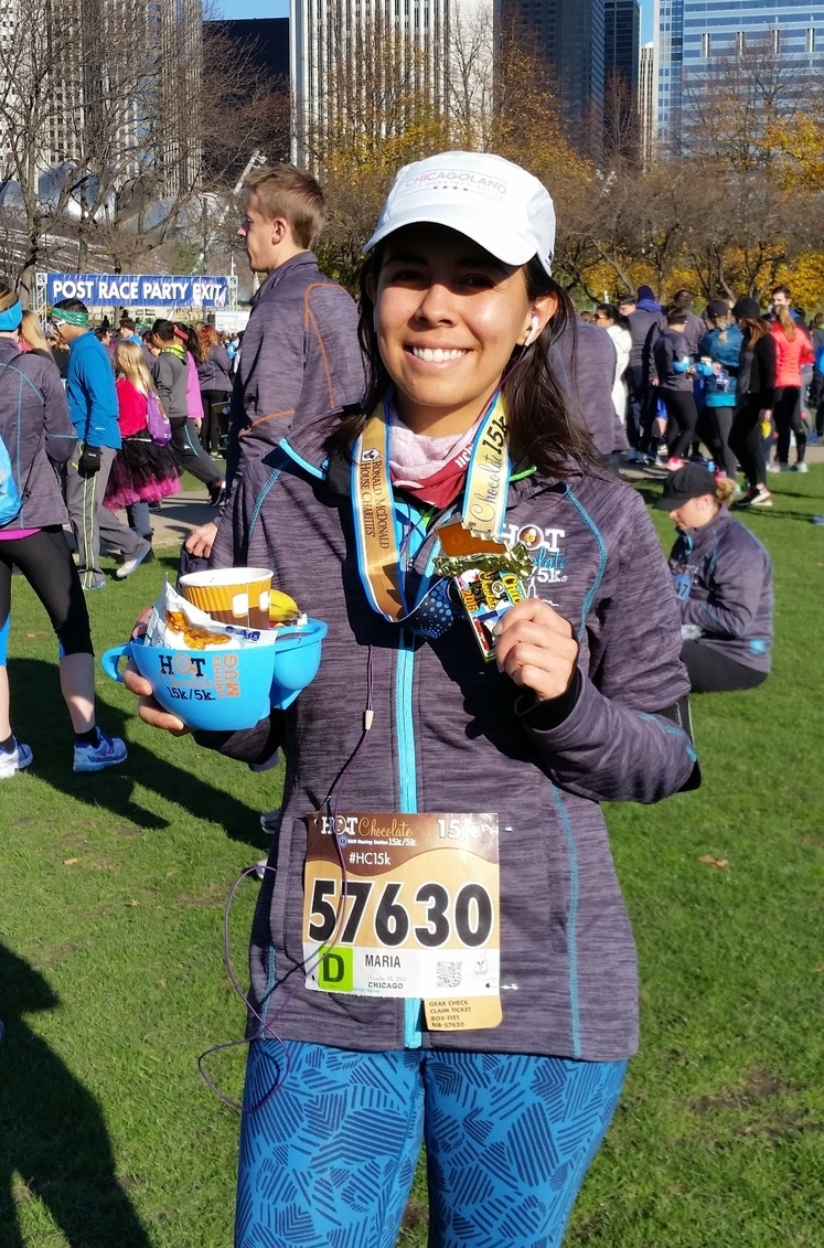 Chicago Hot Chocolate Race 15k • Running Average